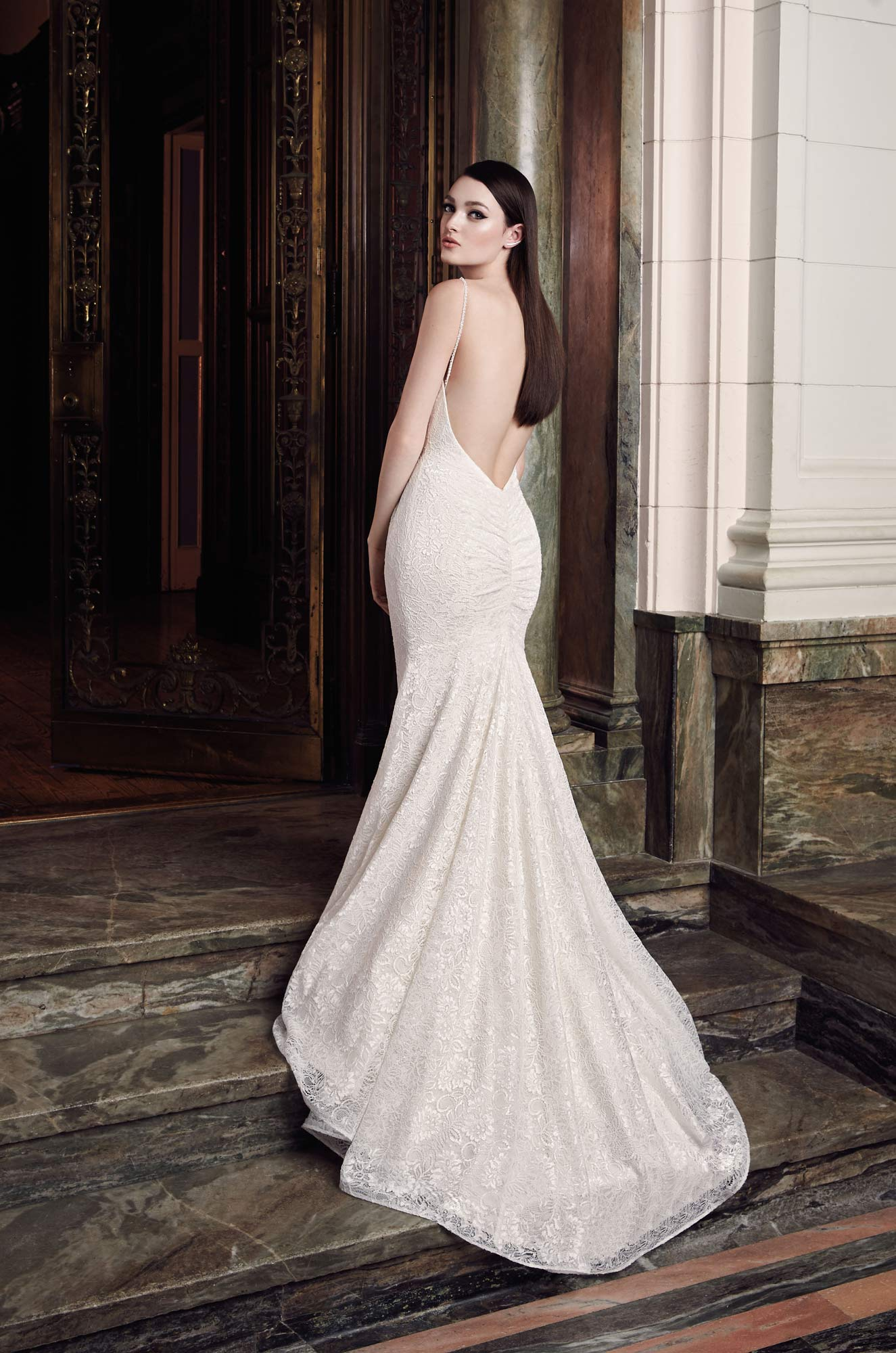 Beaded Strap Wedding Dress -Style #2012 | Mikaella Bridal