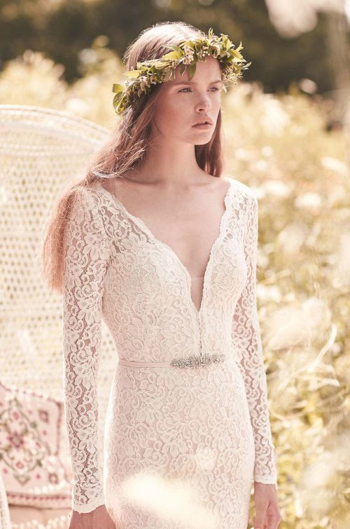 Long Sleeve Wedding Dress - Style #2050 | Mikaella Bridal