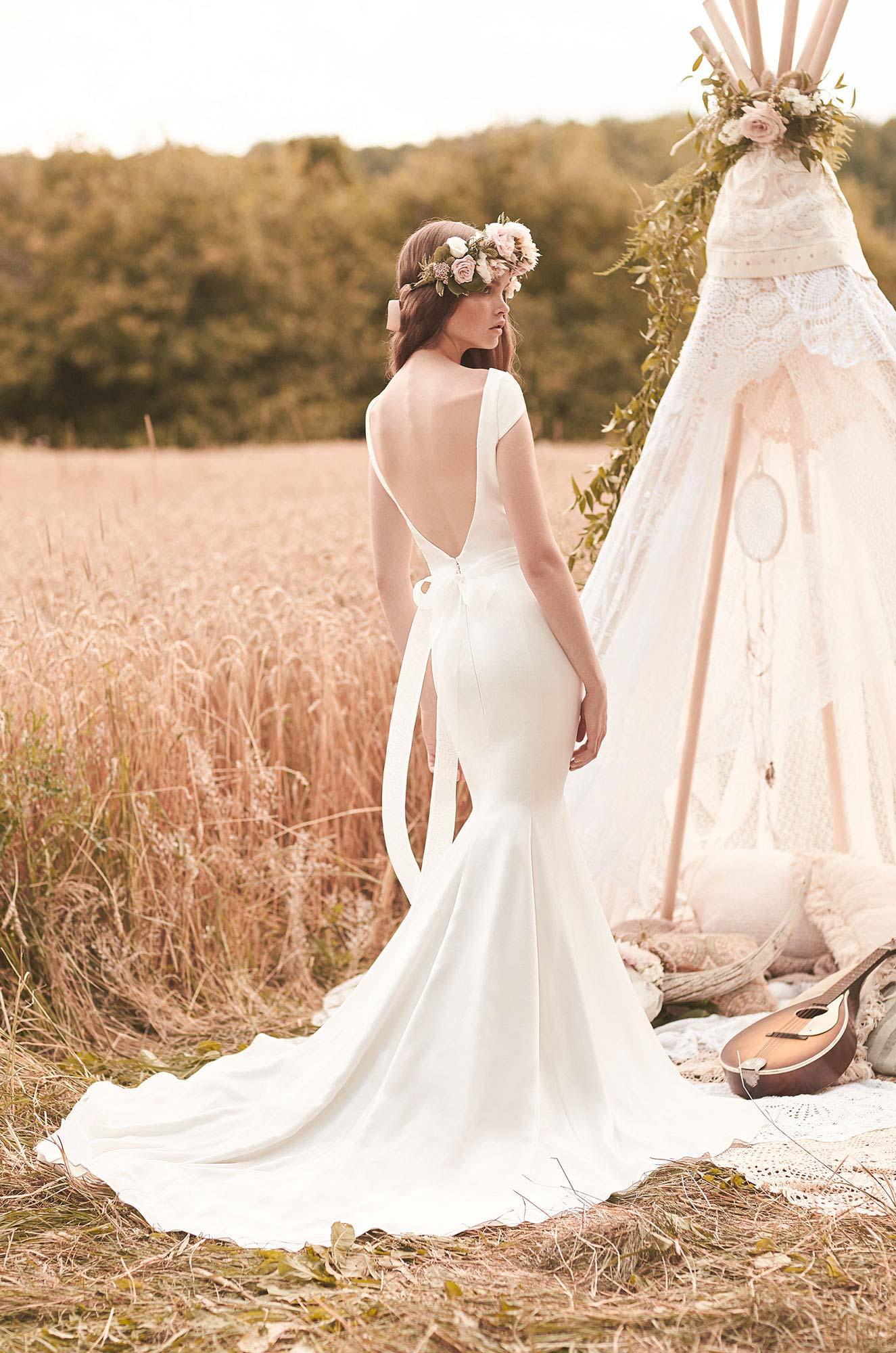Cap Sleeve Wedding Dress - Style #2061 | Mikaella Bridal