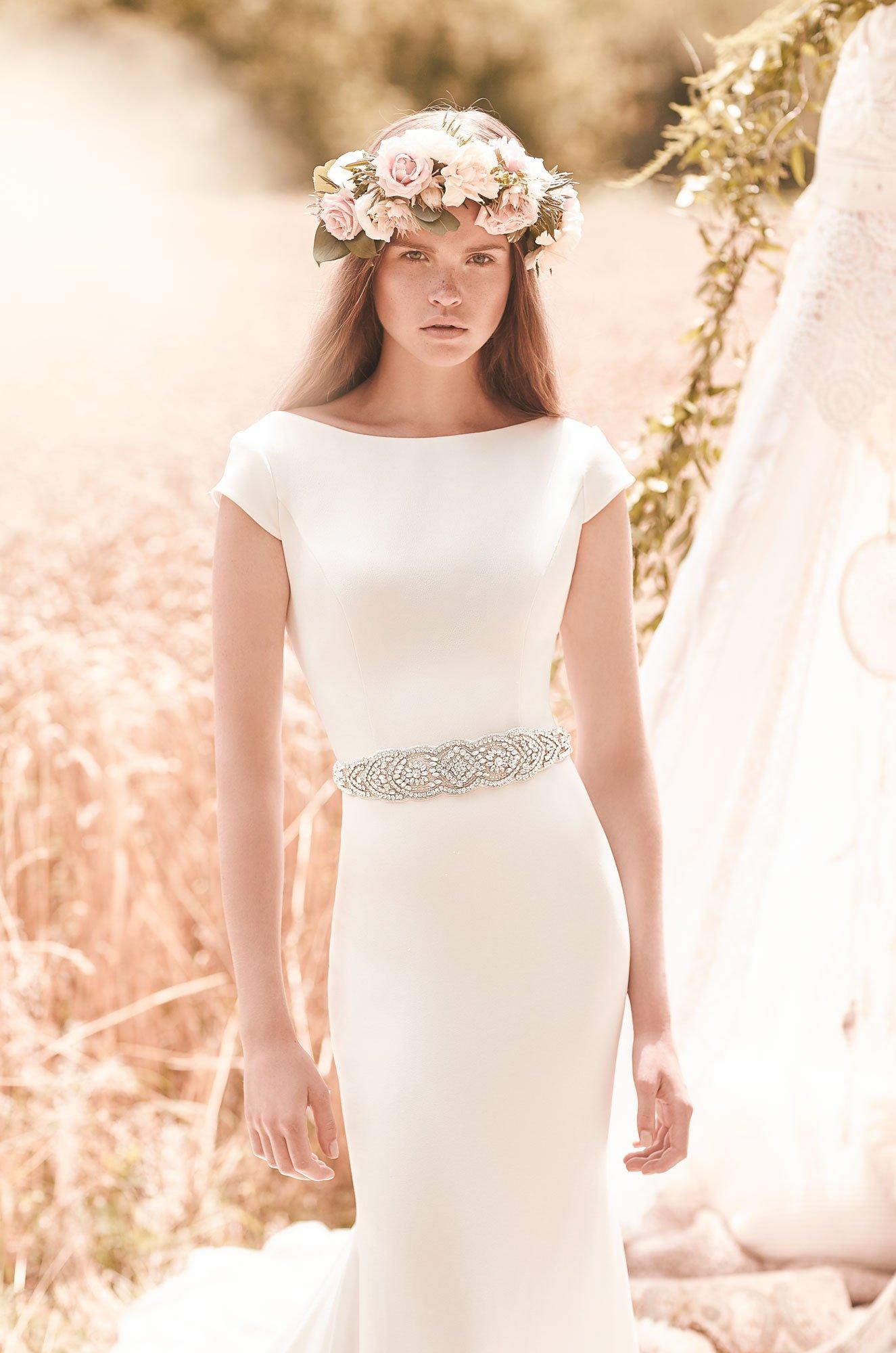 Cap Sleeve Wedding Dress – Style #2061 | Mikaella Bridal