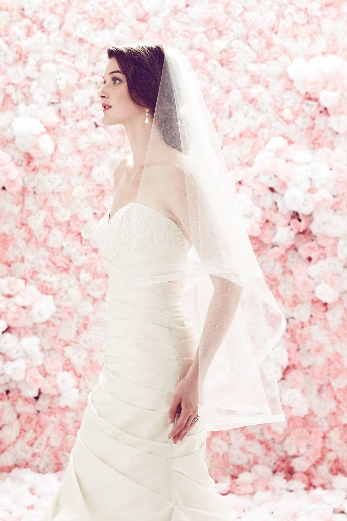 Mohair Edged Veil – Style #VM443F | Mikaella Bridal
