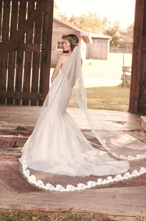 Lace Edge Chapel Length Veil - Style # VM458C | Mikaella Bridal