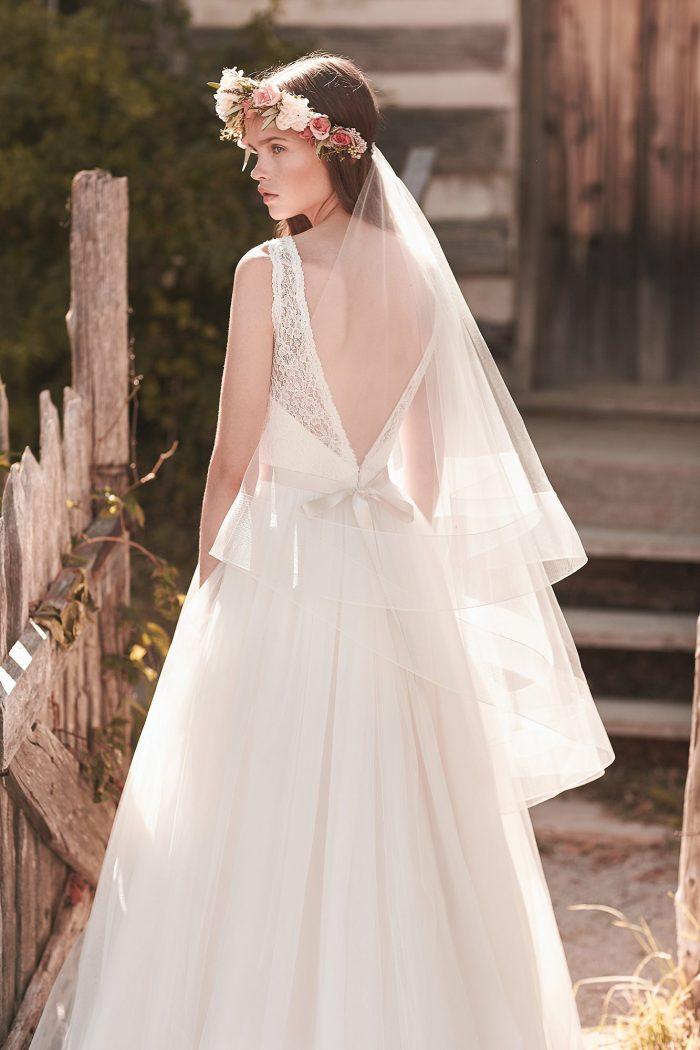 Horsehair Edged Veil - Style #VM460F | Mikaella Bridal