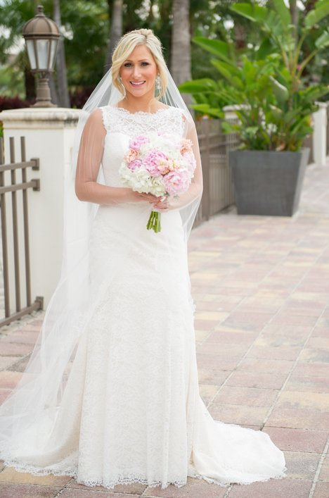 Real Bride Tampa Florida - Jenna and Sean | Mikaella Bridal