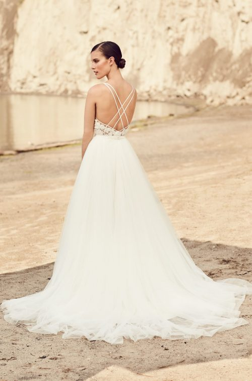 Flowing Tulle Wedding Dress - Style #2106 | Mikaella Bridal