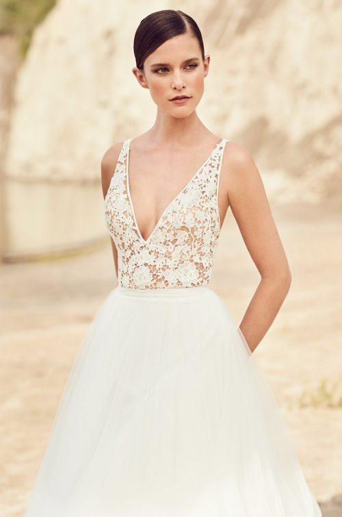 Flowing Tulle Wedding Dress - Style #2106 | Mikaella Bridal
