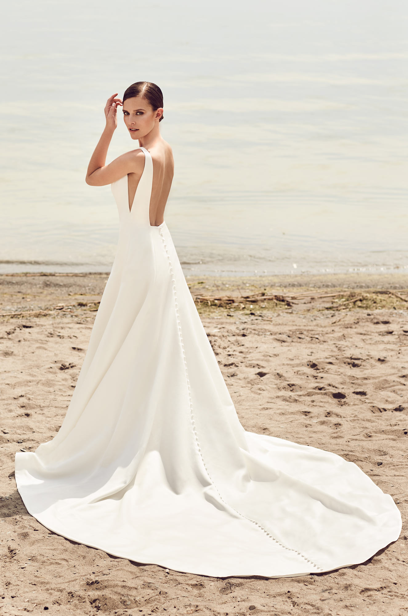 Sleek Modern Wedding Dress