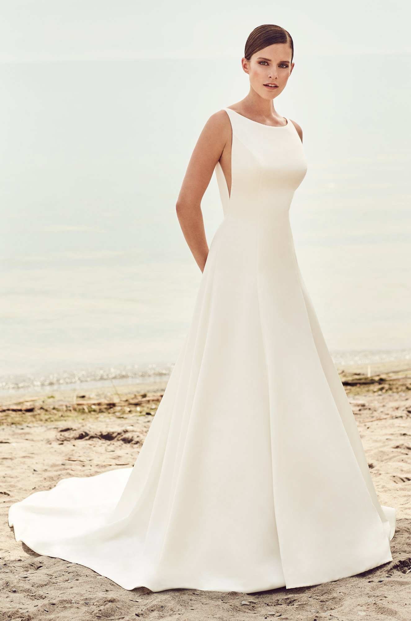 Sleek Modern Wedding Dress – Style #2115 | Mikaella Bridal