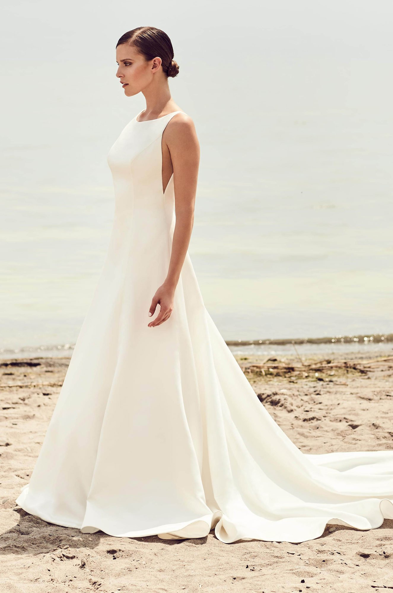 Sleek Modern Wedding Dress - Style #2115 | Mikaella Bridal