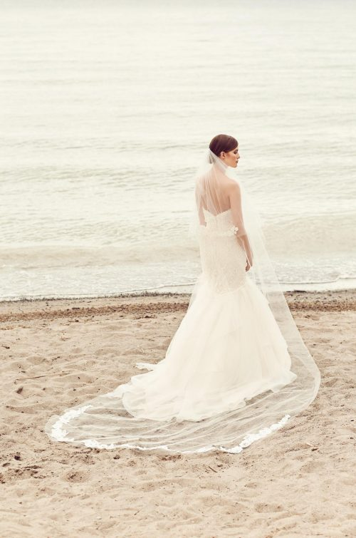 Scattered Mikaella Lace Veil - Style #VM476C | Mikaella Bridal