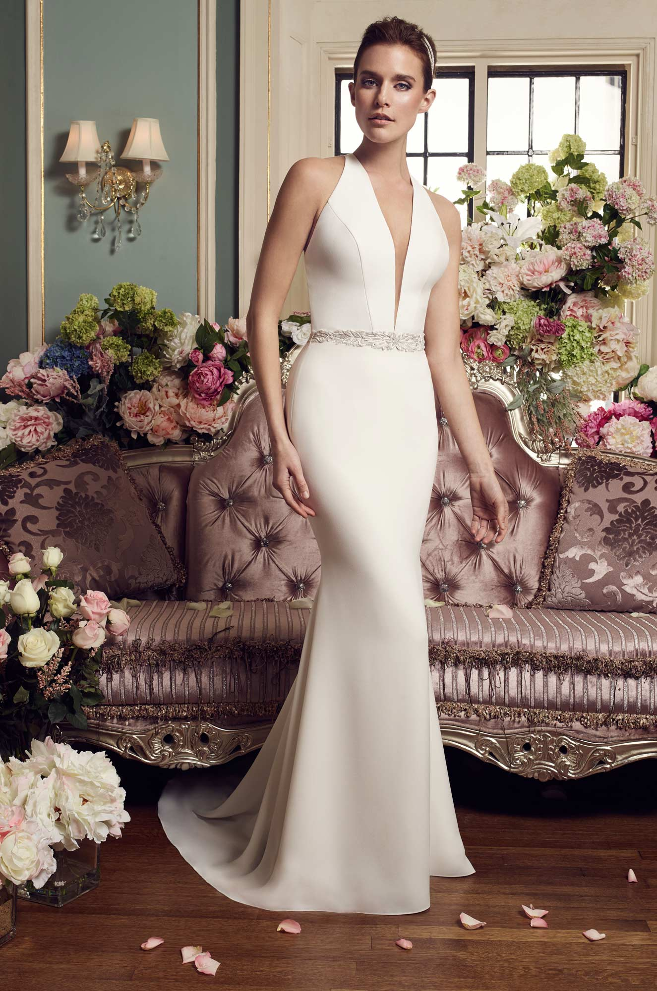 Halter Top Wedding Dress Style 2150 Mikaella Bridal