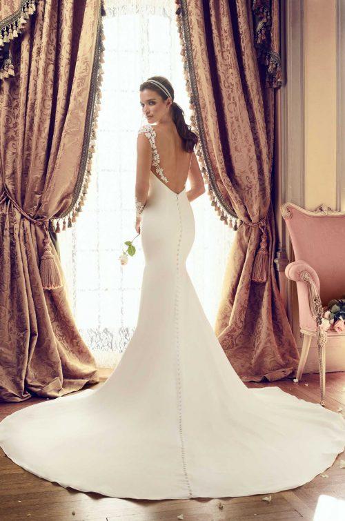 Tulle Sleeve Wedding Dress - Style #2151   Mikaella Bridal