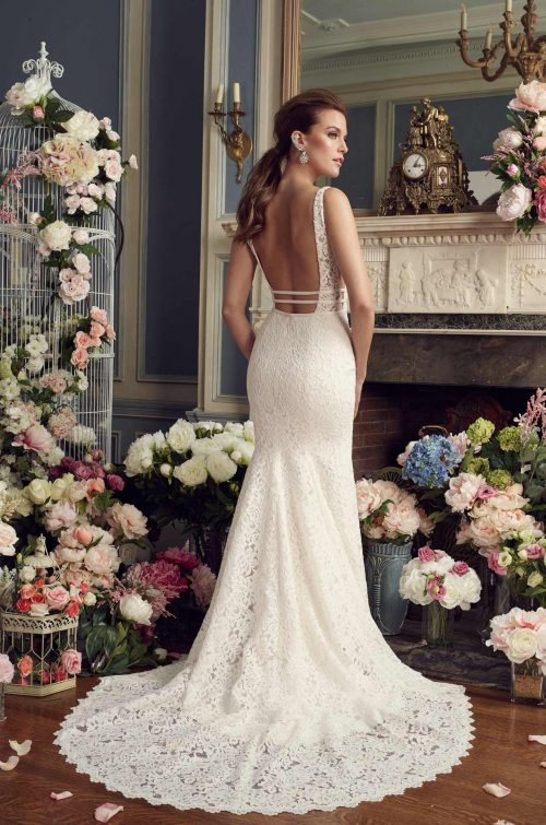 Dramatic Lace Wedding Dress - Style #2154 | Mikaella Bridal