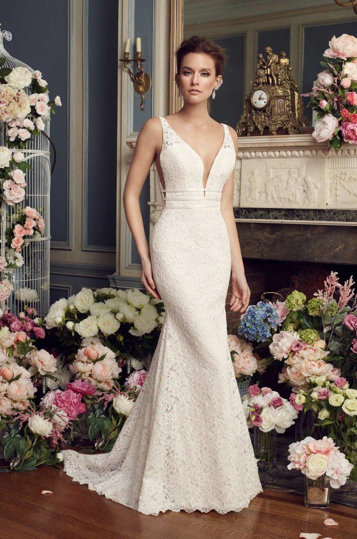 Dramatic Lace Wedding Dress - Style #2154   Mikaella Bridal
