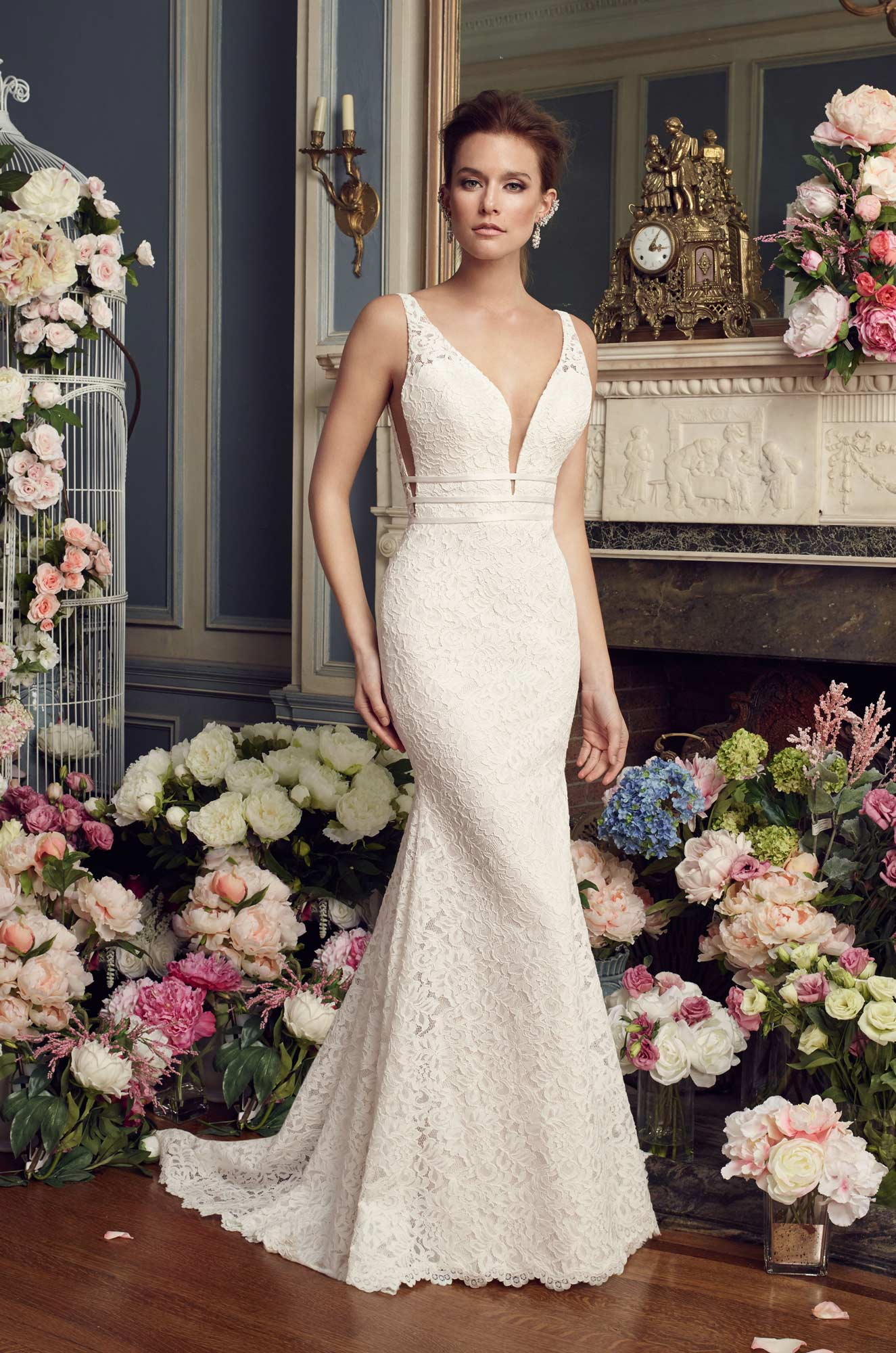 4499cbc9c0d Dramatic Lace Wedding Dress - Style  2154
