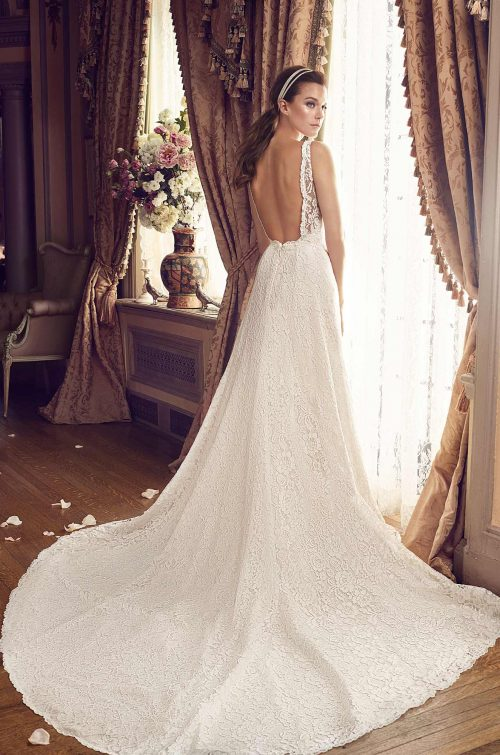 Chic Lace Wedding Dress - Style #2161 | Mikaella Bridal