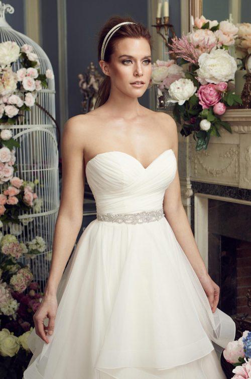 Whimsical Tiered Wedding Dress - Style #2164 | Mikaella Bridal