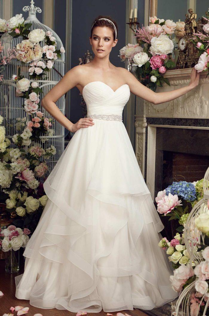 Whimsical Tiered Wedding Dress - Style #2164   Mikaella Bridal