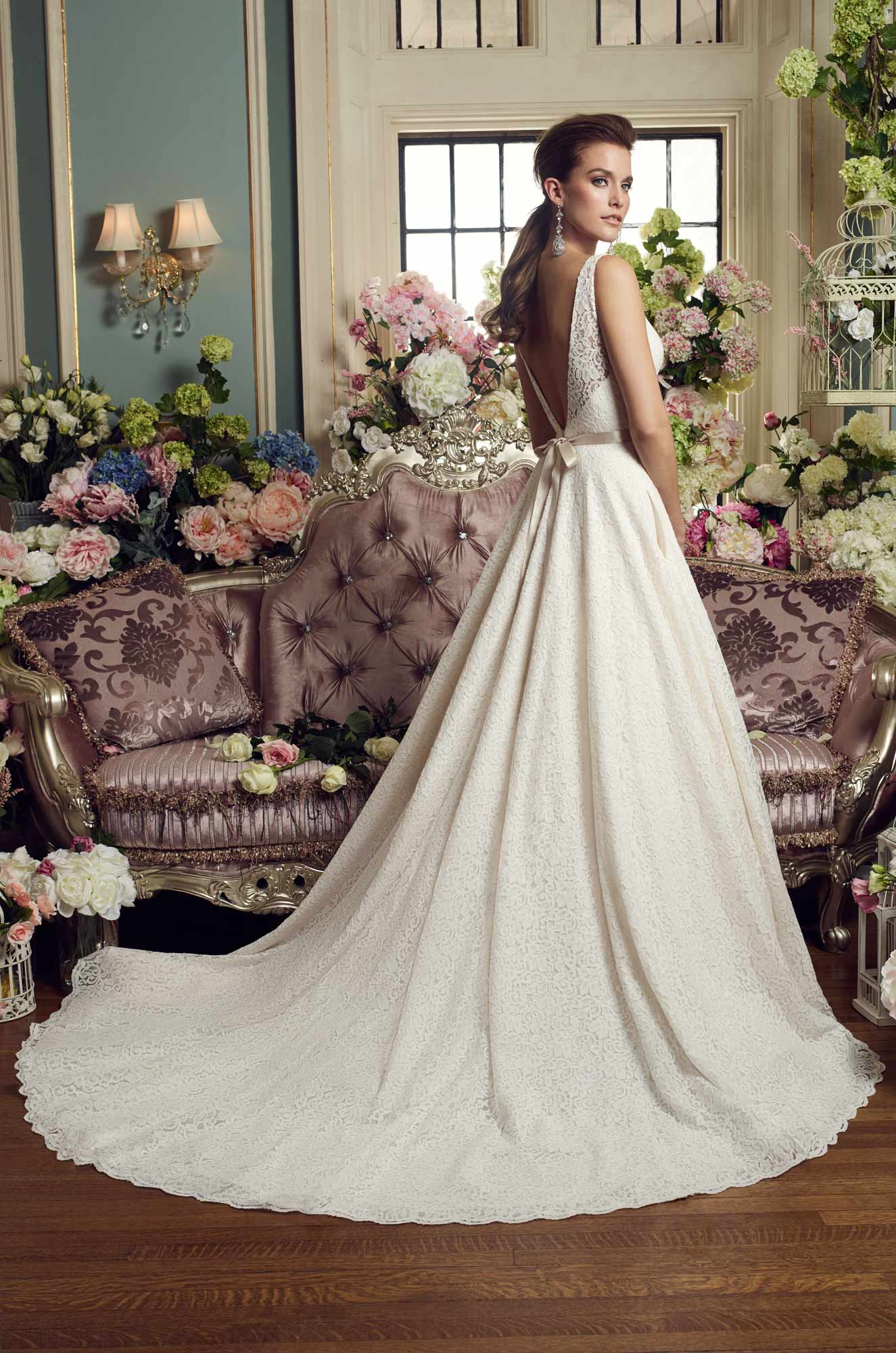 Lace Ball Gown Wedding Dress - Style #2167 | Mikaella Bridal