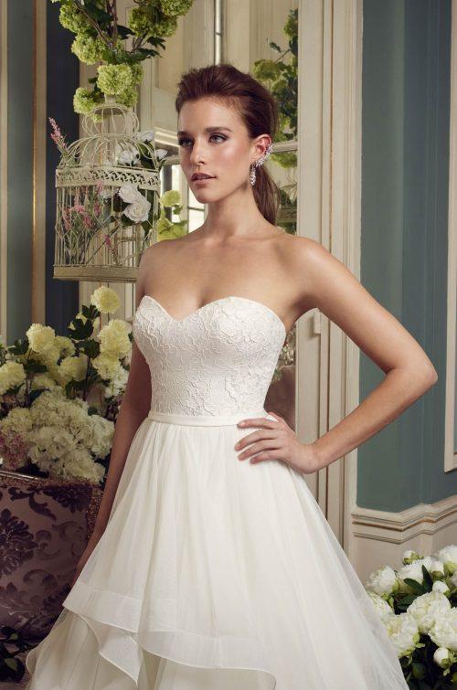 Cascading Ruffles Wedding Dress - Style #2168 | Mikaella Bridal