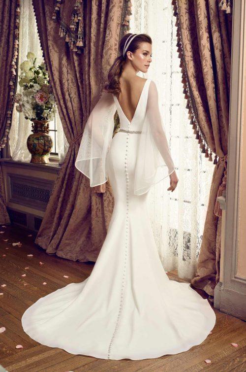Bell Sleeve Wedding Dress - Style #2169   Mikaella Bridal