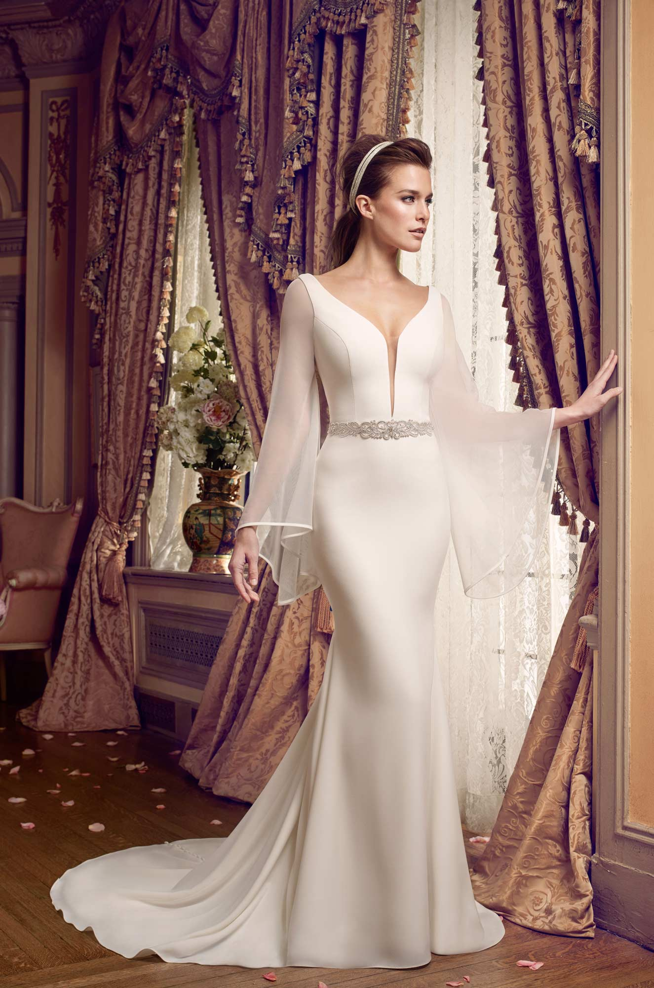 Bell Sleeve Wedding Dress - Style #2169