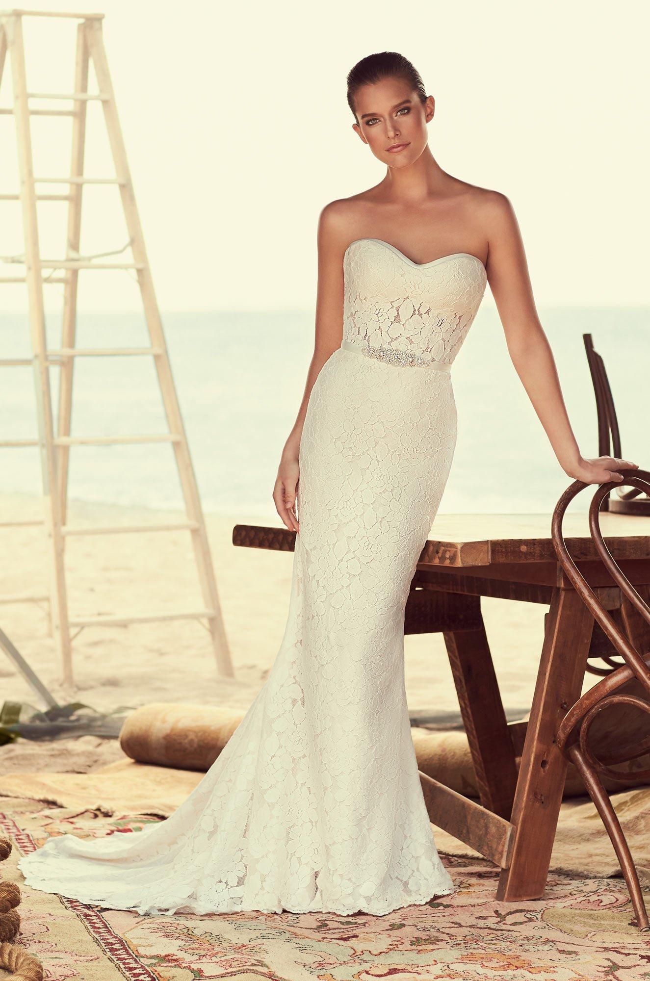 Modified Sweetheart Wedding Dress – Style #2182   Mikaella Bridal