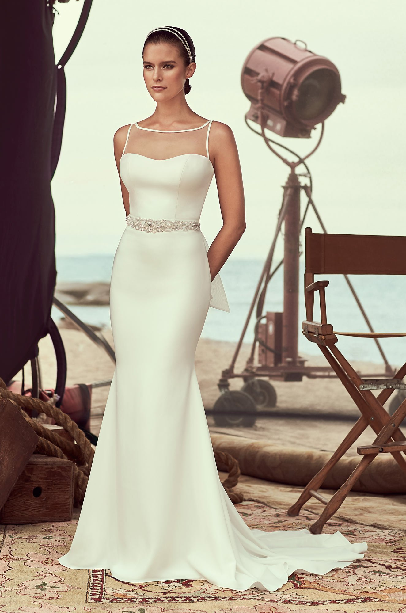 Bateau Neckline Wedding Dress - Style #2183 | Mikaella Bridal