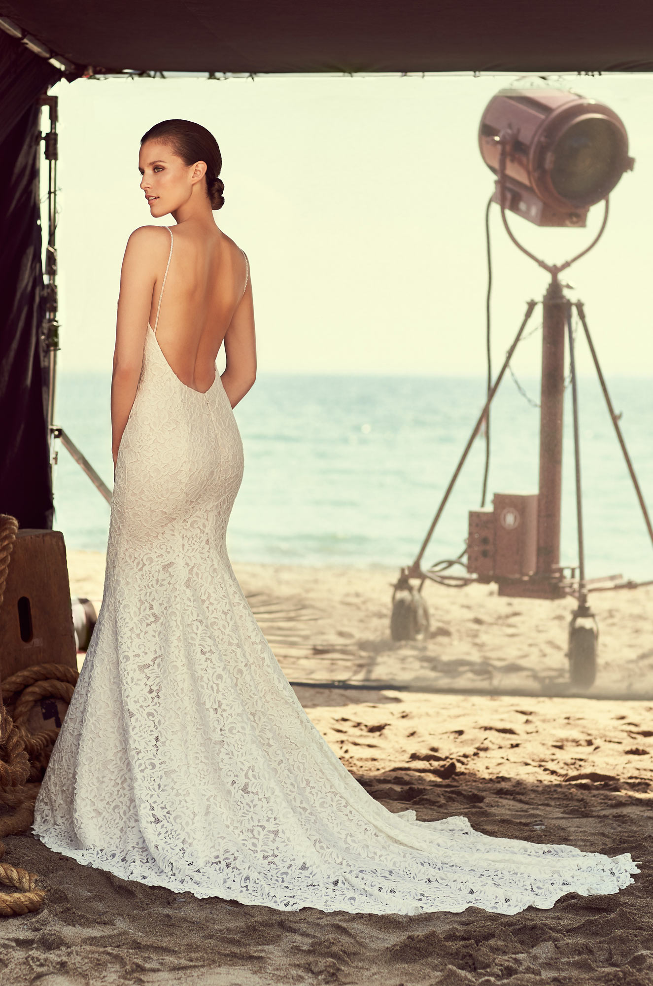 Lace Scoop Neck Wedding Dress – Style #2186 | Mikaella Bridal