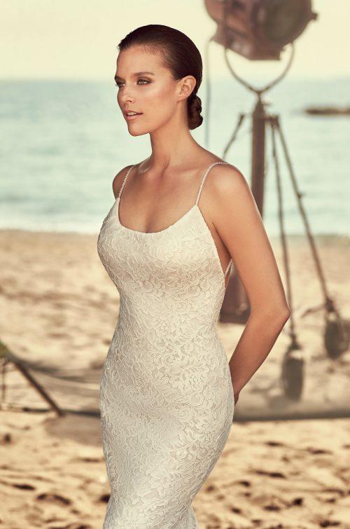 Lace Scoop Neck Wedding Dress - Style #2186   Mikaella Bridal