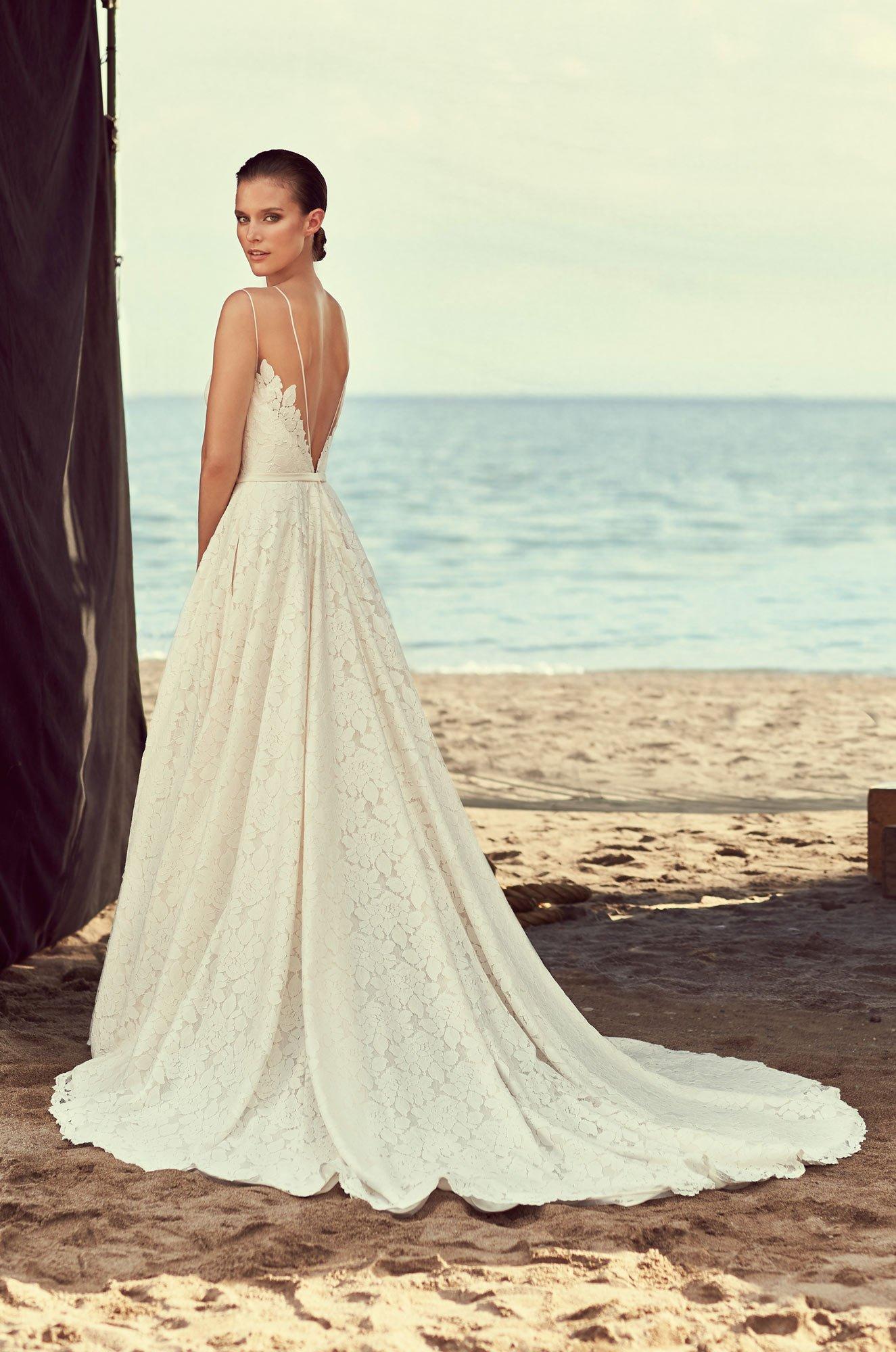 Full Lace Skirt Wedding Dress Style 2188 Mikaella Bridal