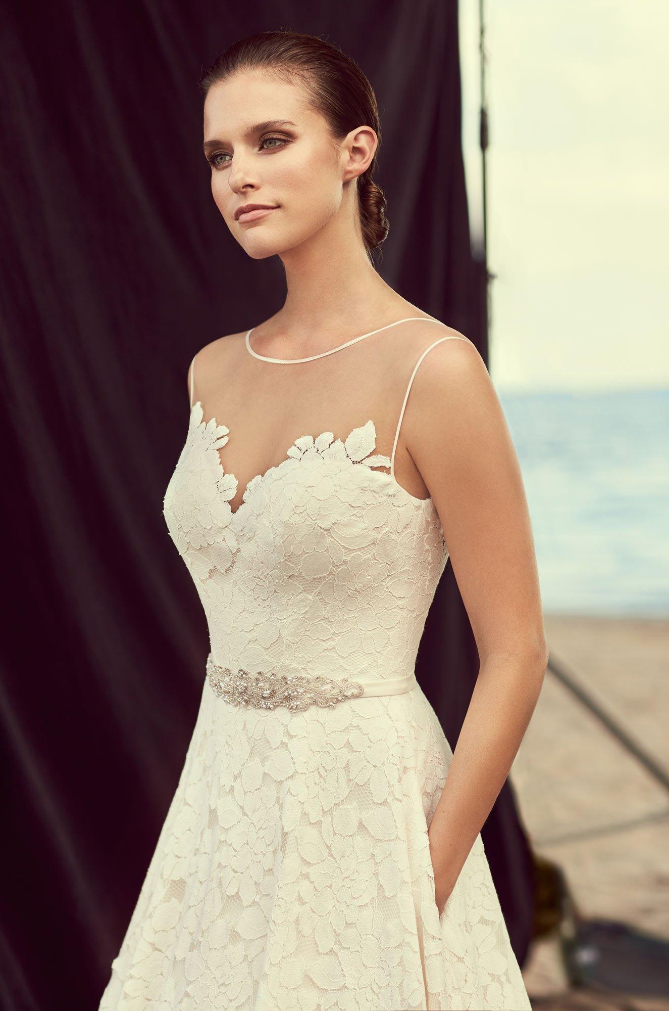 Full Lace Skirt Wedding Dress – Style #2188 | Mikaella Bridal