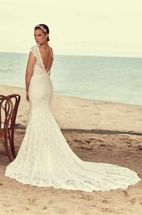 Scalloped Neckline Wedding Dress - Style #2189 | Mikaella Bridal
