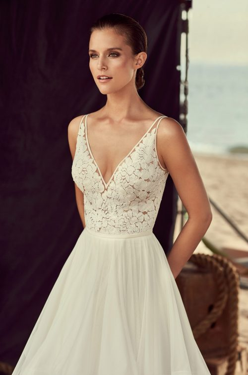 Layered Tulle Skirt Wedding Dress - Style #2191 | Mikaella Bridal
