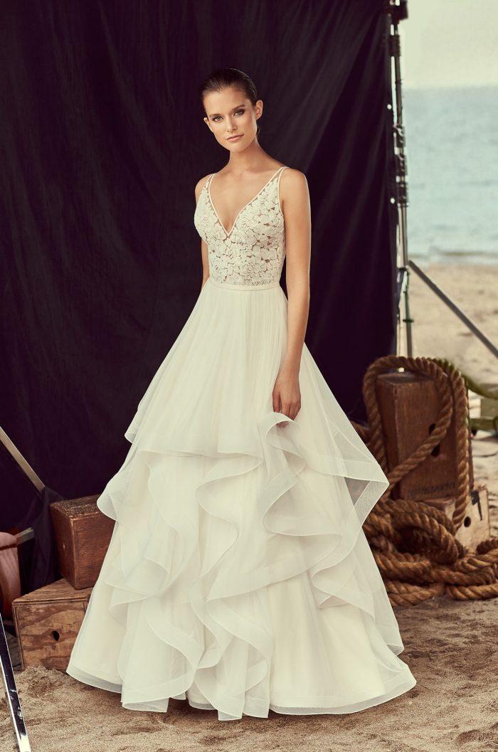 Layered Tulle Skirt Wedding Dress - Style #2191 | Mikaella Bridal