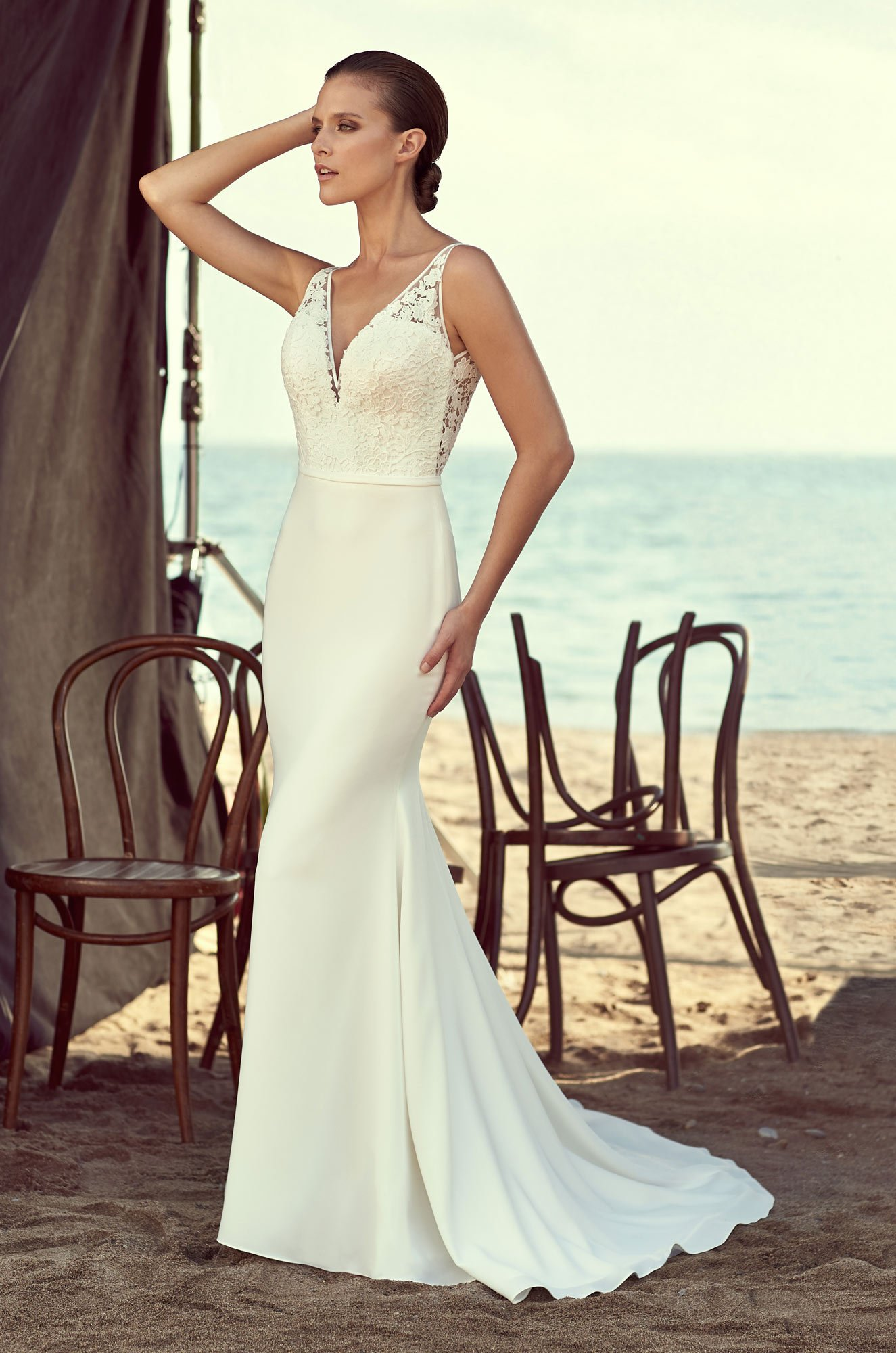 Sleek Fitted Wedding Dress - Style #2195 | Mikaella Bridal