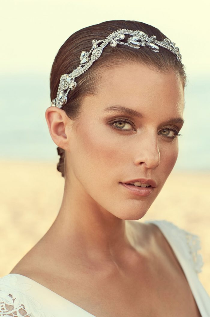 Vine Design Beaded Hairband - Style #MHB103 | Mikaella Bridal
