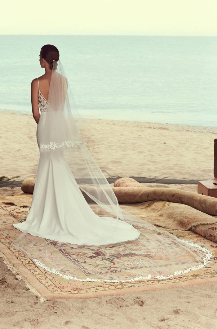 Two Tiered Lace Veil - Style #VM482C | Mikaella Bridal