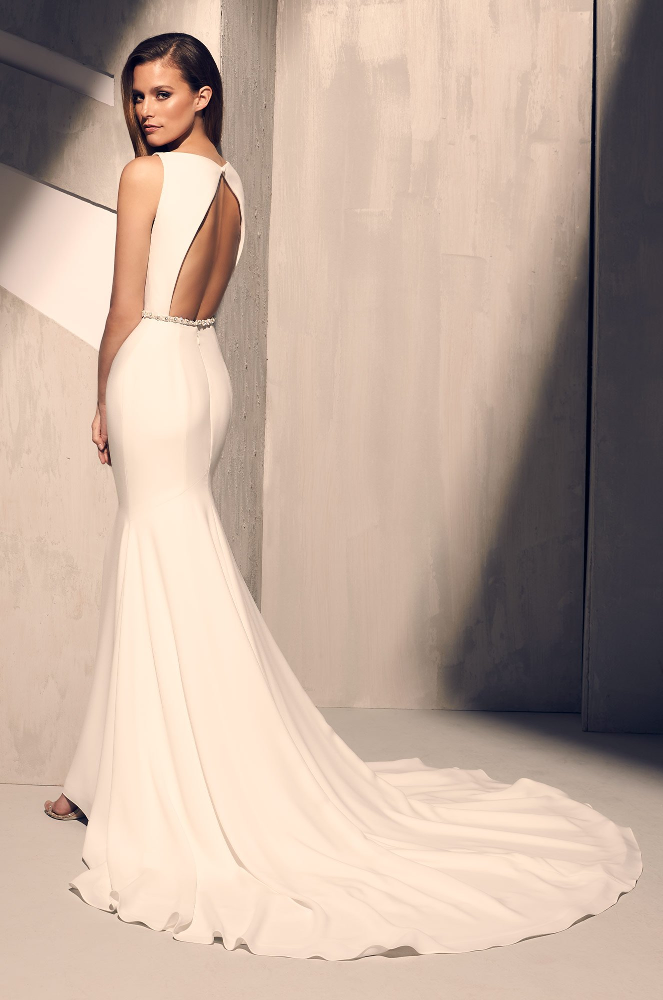 Elegant Flared Wedding Dress – Style #2200 | Mikaella Bridal