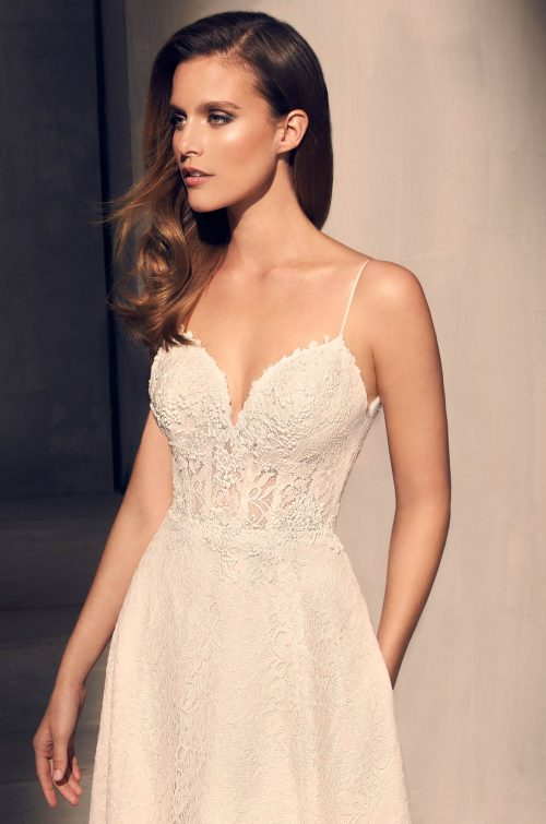Sequin Corset Wedding Dress - Style #2201 | Mikaella Bridal