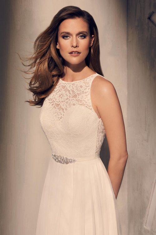 Elegant Skirt Slit Wedding Dress - Style #2202   Mikaella Bridal