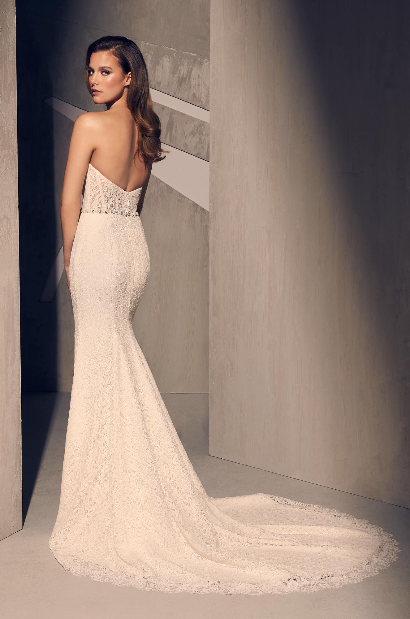Sheer Corset Wedding Dress - Style #2209 | Mikaella Bridal