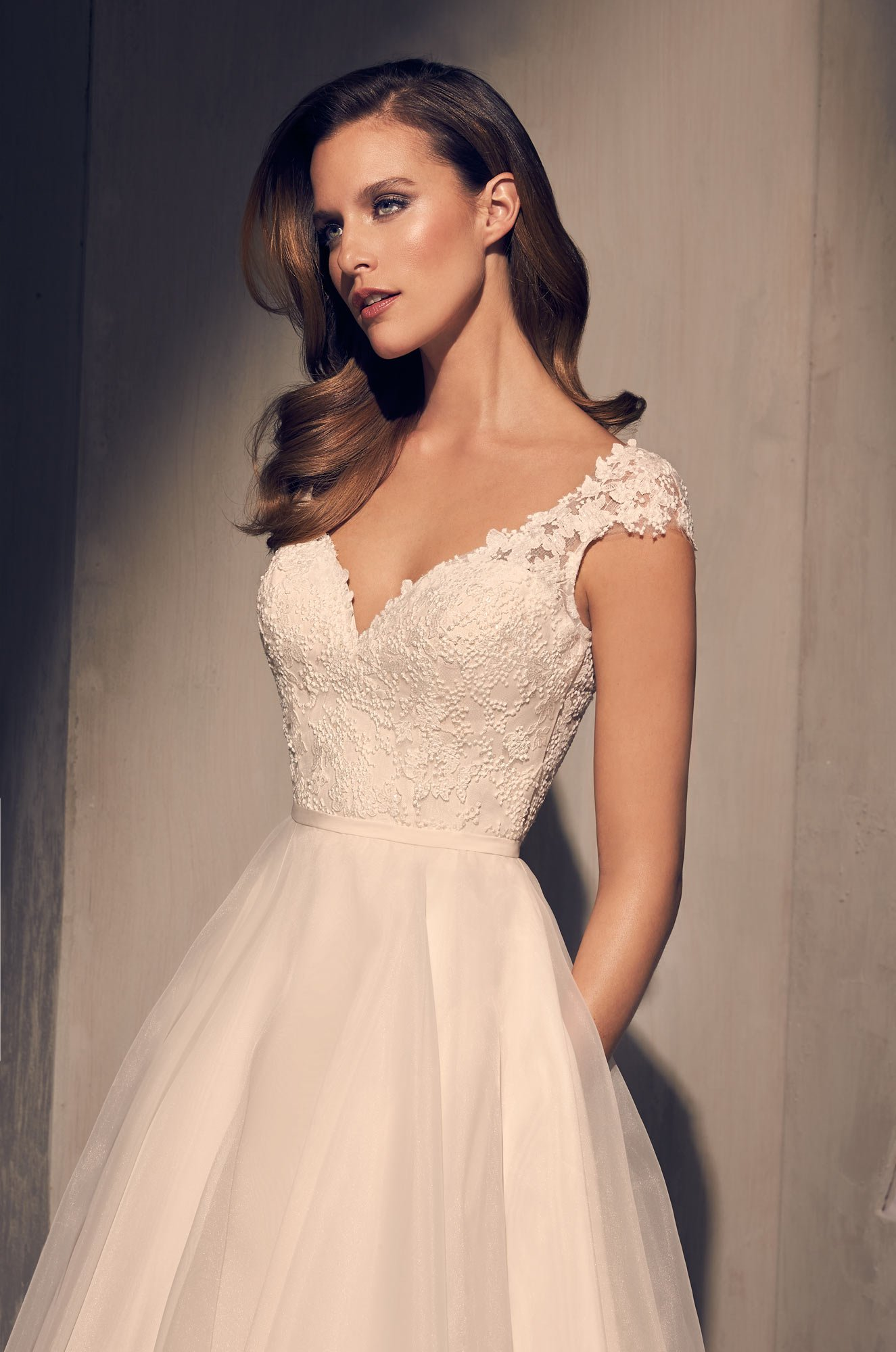 Royal Organza Skirt Wedding Dress - Style #2212 | Mikaella Bridal