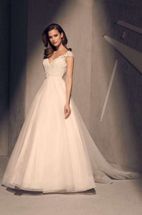 Royal Organza Skirt Wedding Dress - Style #2212 | Mikaella Bridal