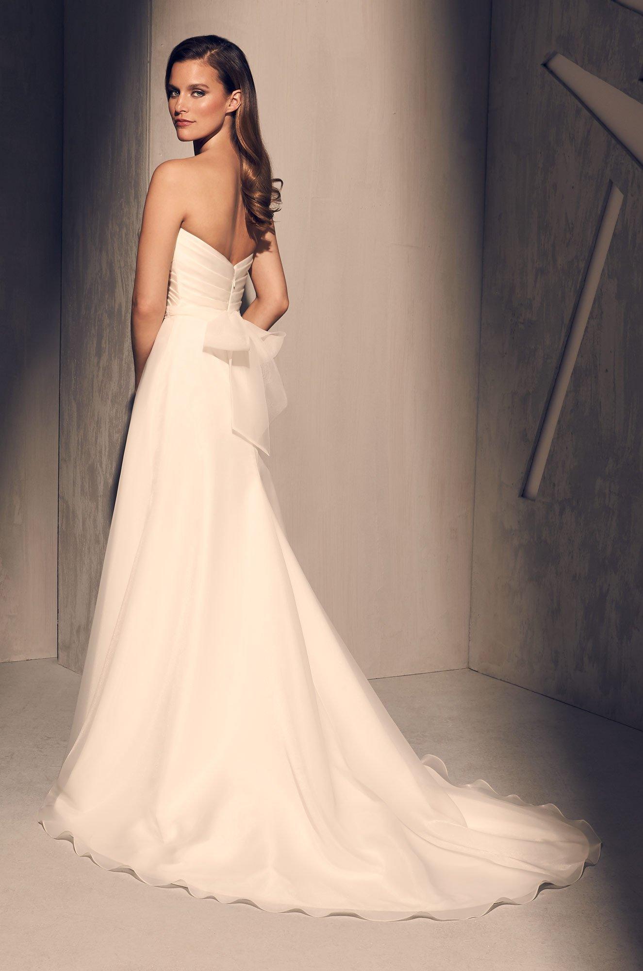 Pleated Bodice Wedding Dress - Style #2213 | Mikaella Bridal
