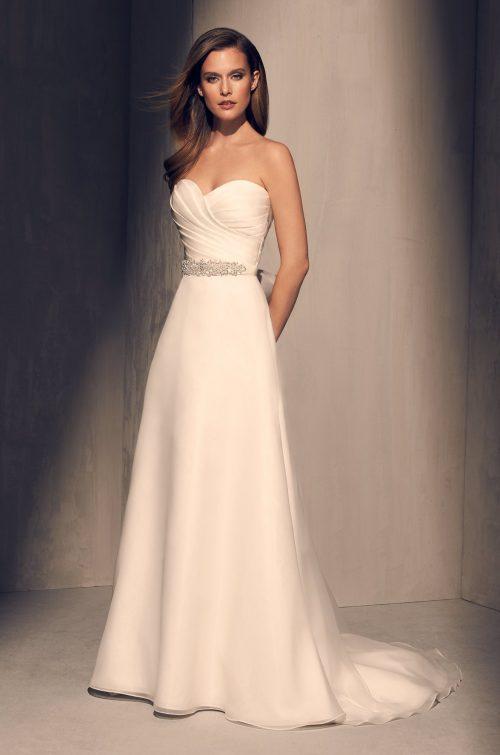 Pleated Bodice Wedding Dress - Style #2213   Mikaella Bridal