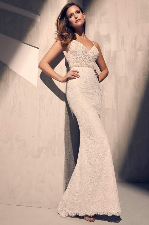 Ornate Lace Wedding Dress - Style #2215 | Mikaella Bridal