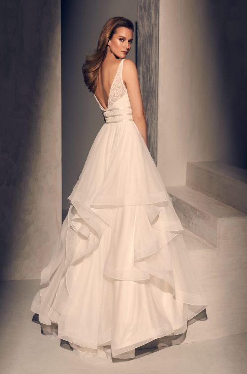 Radiant Ruffled Wedding Dress - Style #2218   Mikaella Bridal