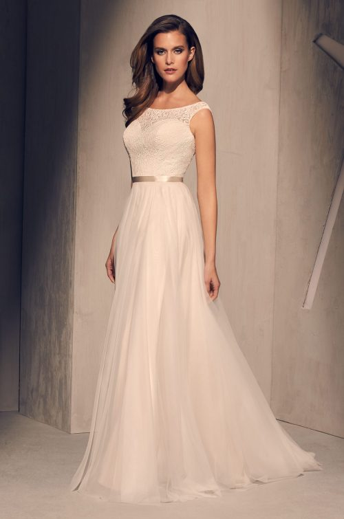 Chic Tulle Skirt Wedding Dress - Style #2219 | Mikaella Bridal