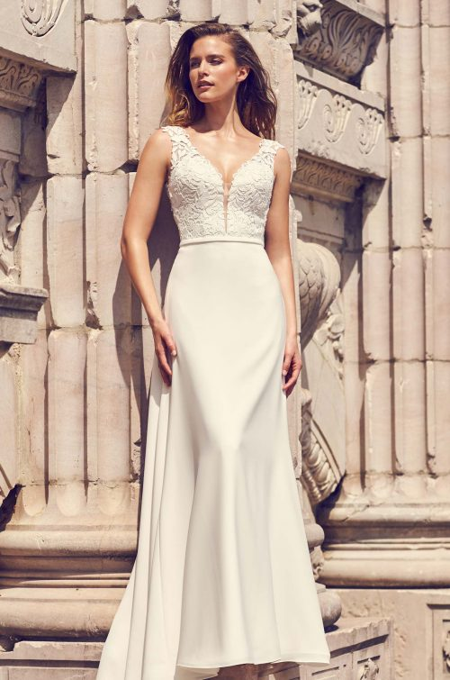 Lace Keyhole Back Wedding Dress - Style #2226 | Mikaella Bridal